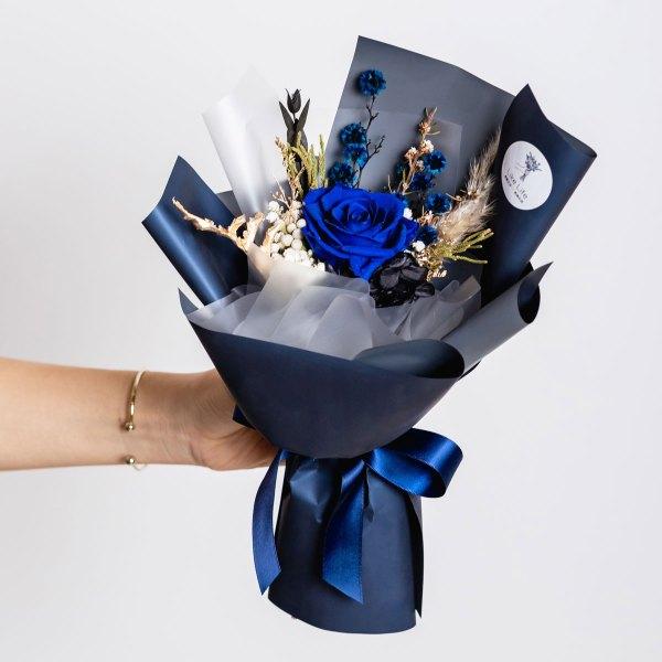 永生花束-藍色永生花束封面