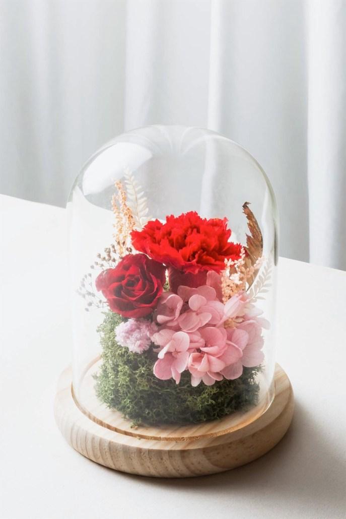 母親節紅色永生花康乃馨情境-台北喜歡生活乾燥花店