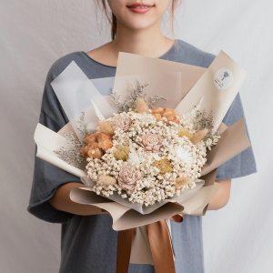 求婚乾燥花束推薦,台北求婚玫瑰乾燥花束裸色,喜歡生活乾燥花店