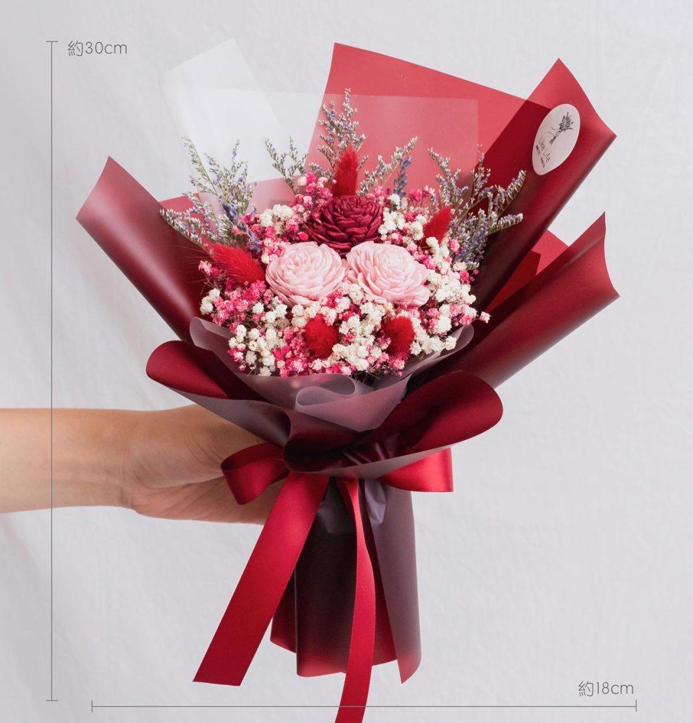 紅色玫瑰乾燥花束,玫瑰乾燥花束紅色公分,台北喜歡生活乾燥花店