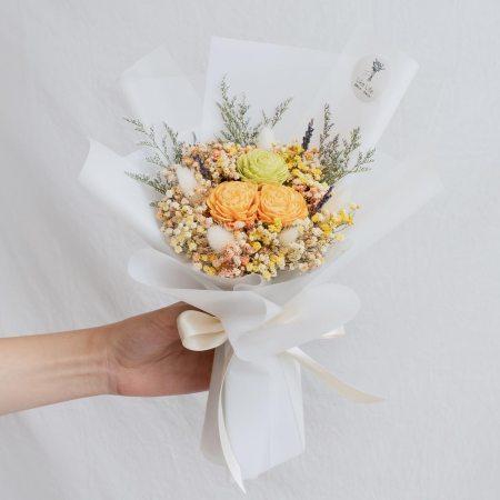 黃色玫瑰乾燥花束,玫瑰乾燥花束黃色封面,台北喜歡生活乾燥花店