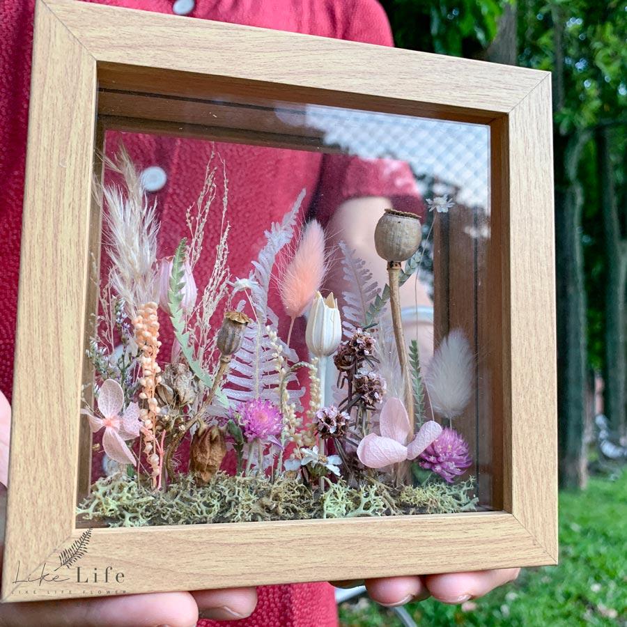 乾燥花植物標本相框,喜歡生活乾燥花店,乾燥花標本課程
