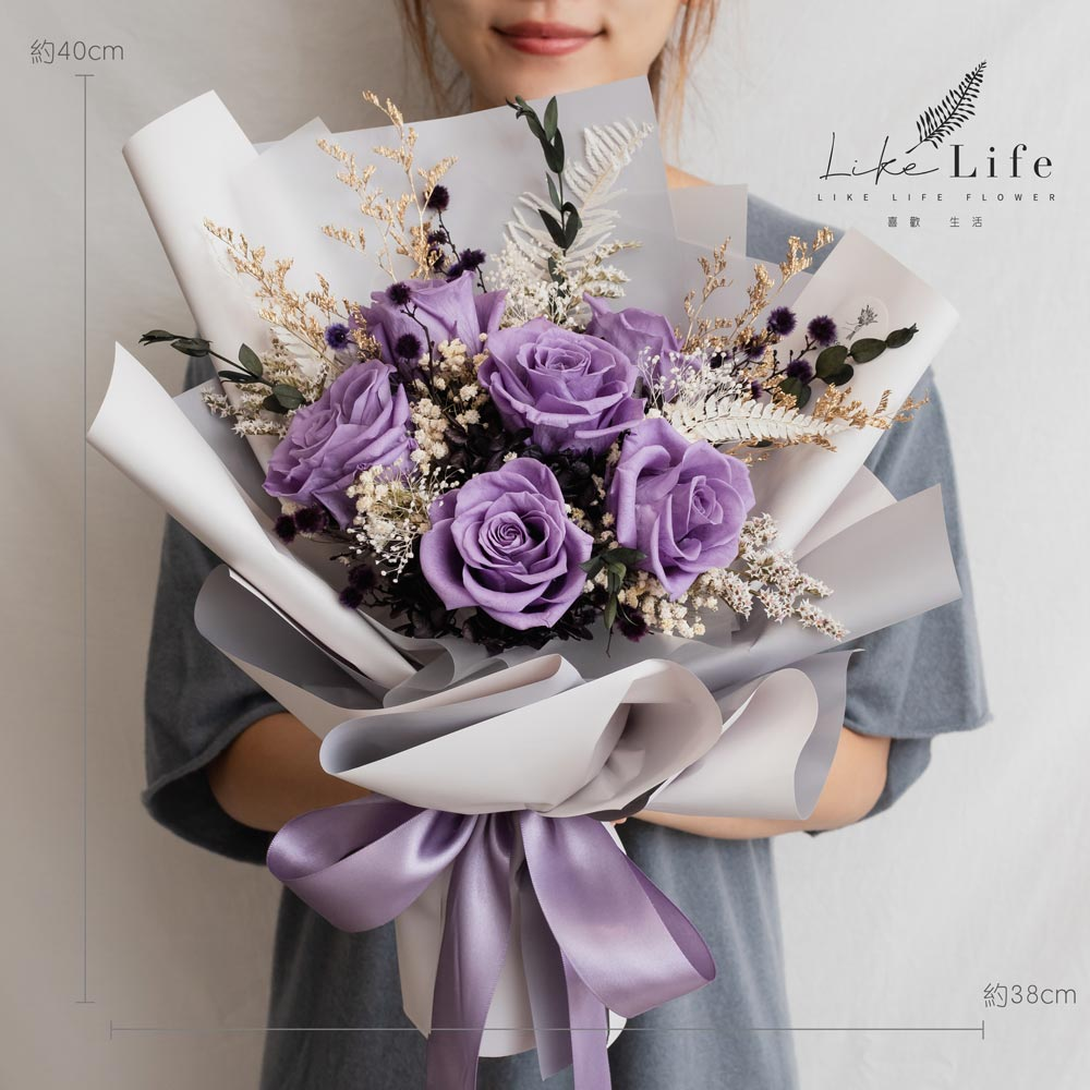 永生花束紫色,公分永生花束推薦,紫色永生花束推薦