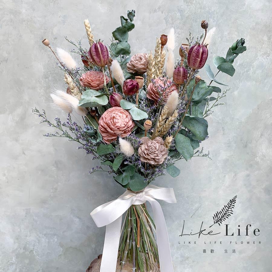 新娘捧花課程教學台北,2020最新新娘手綁捧花