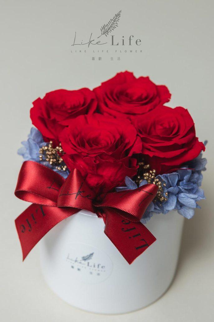 母親節永生玫瑰花盆栽紅色永生玫瑰花封面