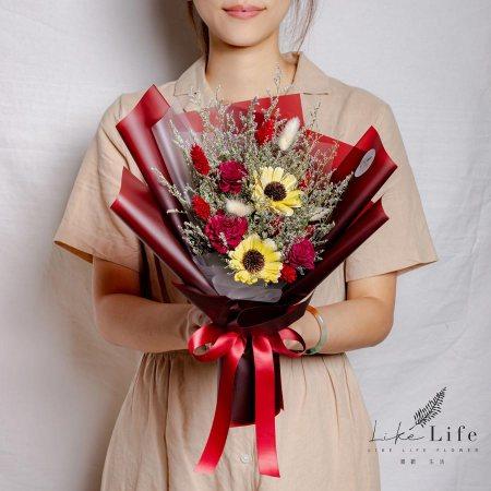 畢業花束推薦,向日葵花束,紅色畢業花束推薦