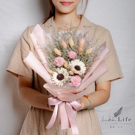 畢業花束推薦,向日葵畢業花束粉色,粉色畢業花束