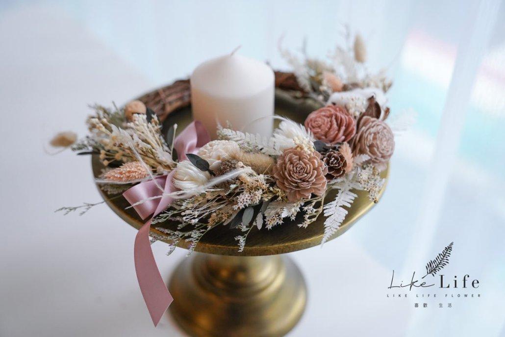 乾燥花花圈,韓式乾燥花花圈花藝課程