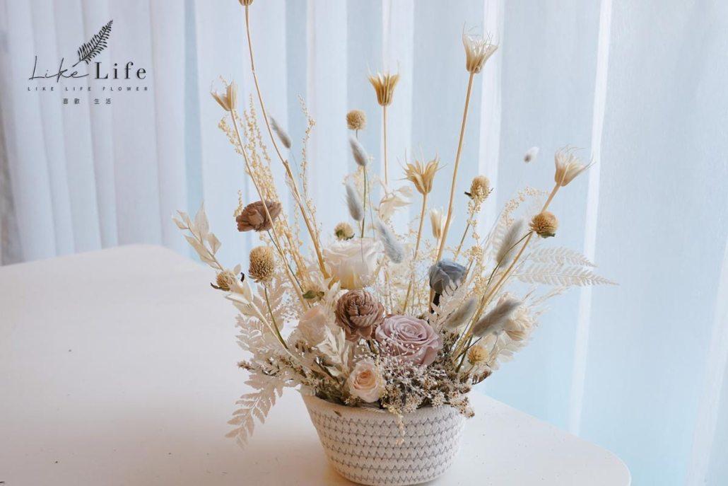 韓式乾燥花盆栽花藝課程