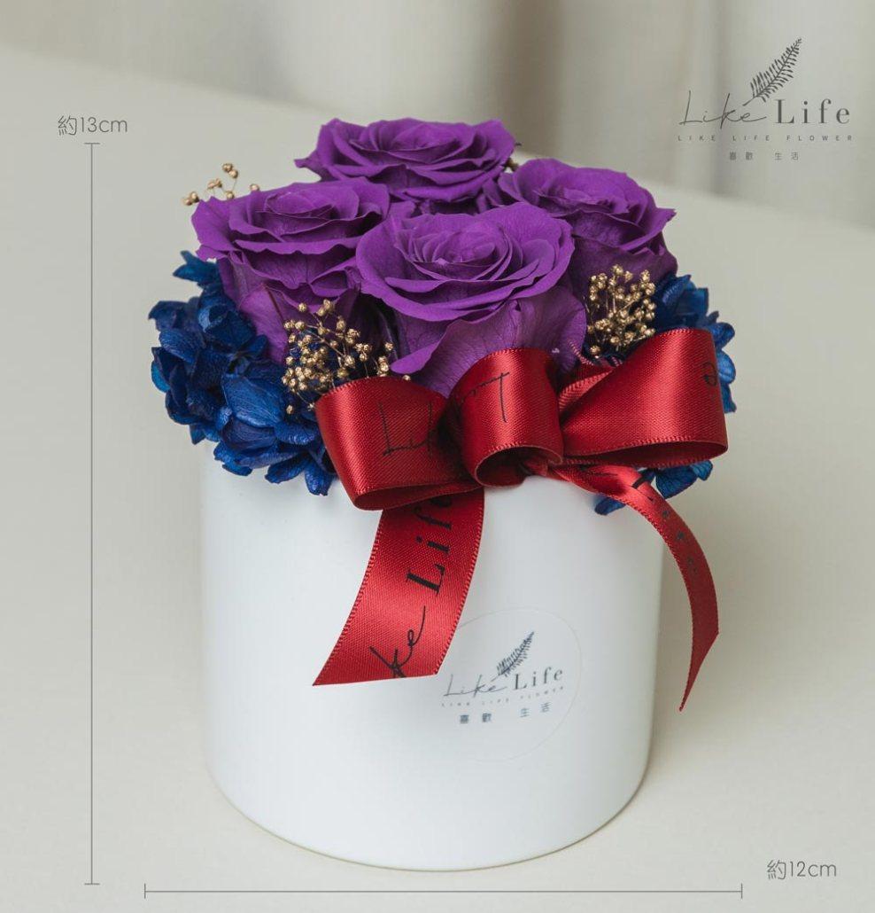 情人節康乃馨花束紫色永生玫瑰花盆栽公分,紫玫瑰花,情人節花束紫色永生玫瑰花盆栽