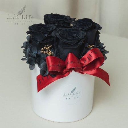 情人節永生玫瑰花盆栽黑色,黑玫瑰,黑色玫瑰花