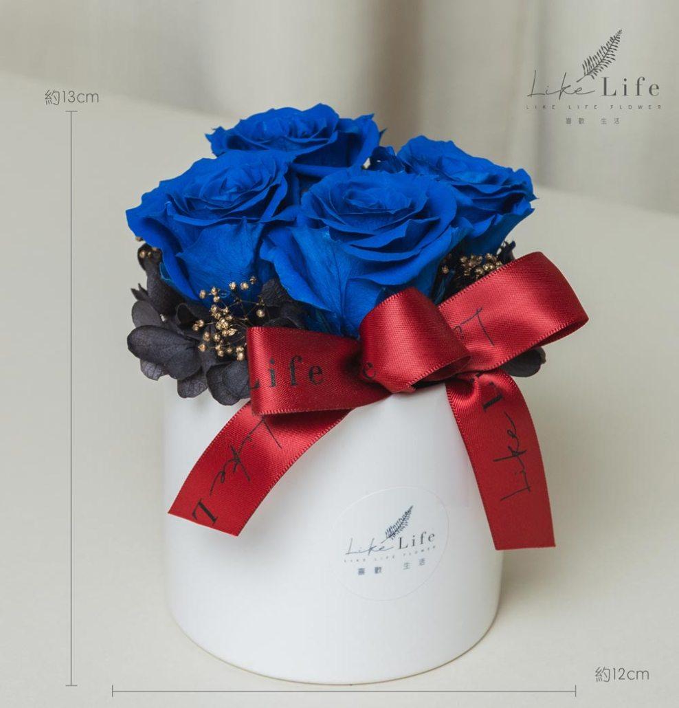 情人節藍色玫瑰花,藍玫瑰花盆栽永生花,藍色玫瑰花,永生玫瑰花藍色