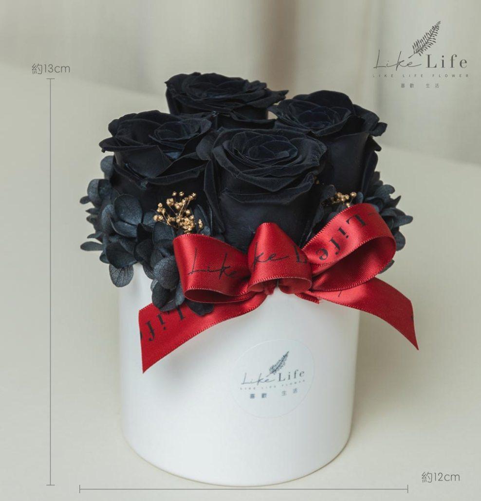 情人節黑玫瑰,黑色永生玫瑰花,黑玫瑰