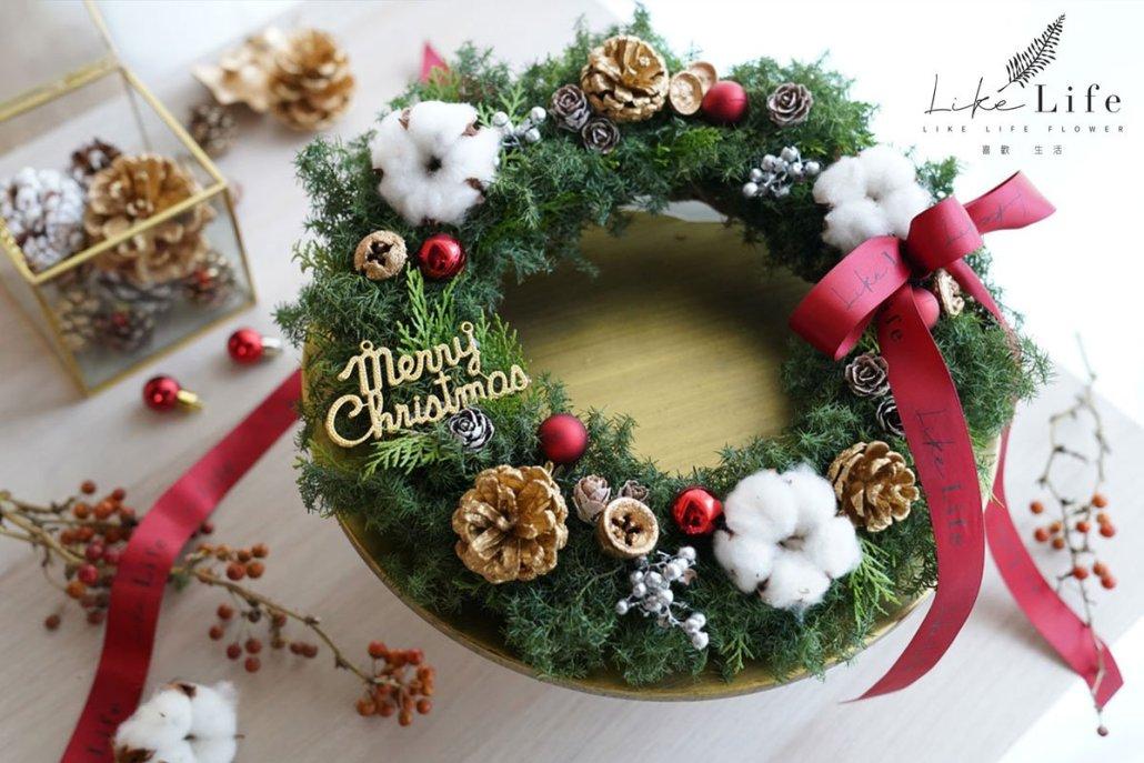 聖誕花圈果實版,聖誕節花圈哪裡買,花圈教學台北