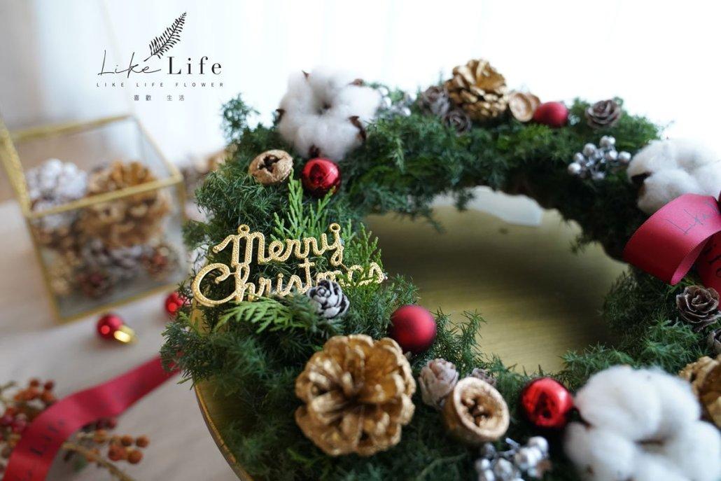 聖誕花圈紅色特寫,聖誕花圈特寫,聖誕樹,聖誕花圈教學課程台北