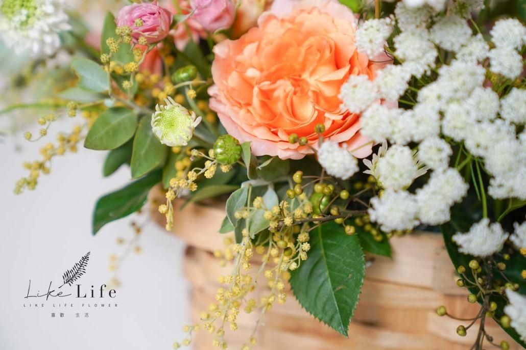 韓系花籃課程,韓式鮮花盆花,喜歡生活乾燥花店,插花教學