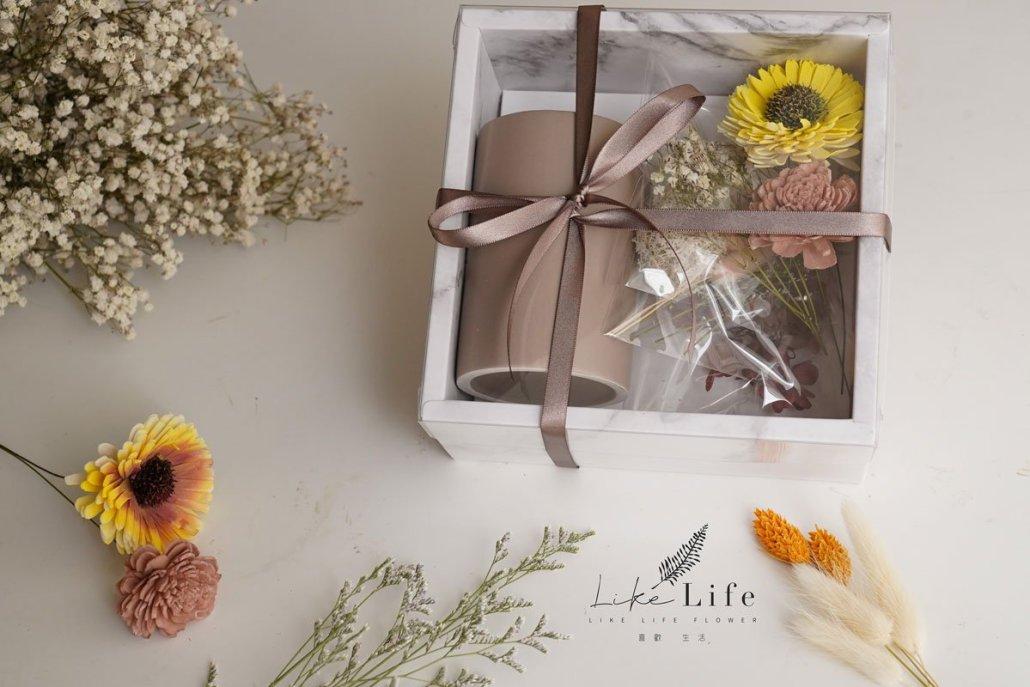 畢業花束向日葵盆栽材料包向日葵乾燥花盆栽禮盒