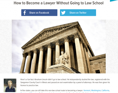 Read this: How to Become a Lawyer Without Going to Law School