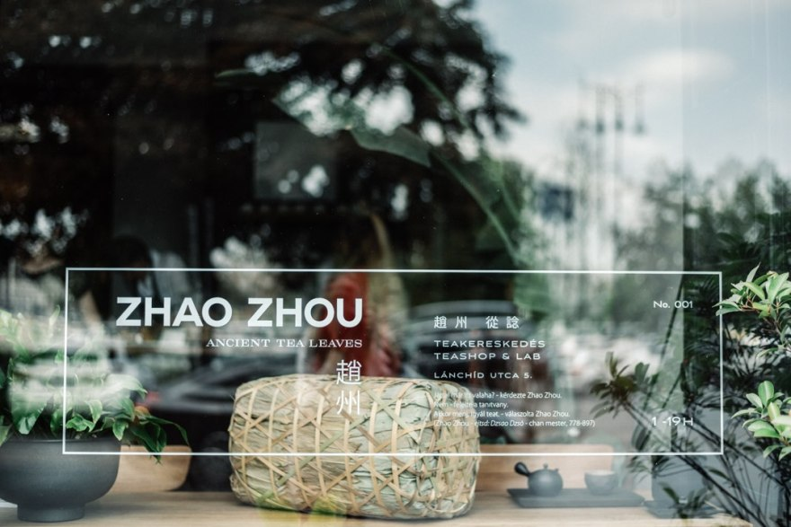 shop-window-display-with-tea-leaves-plants-chinese-writing
