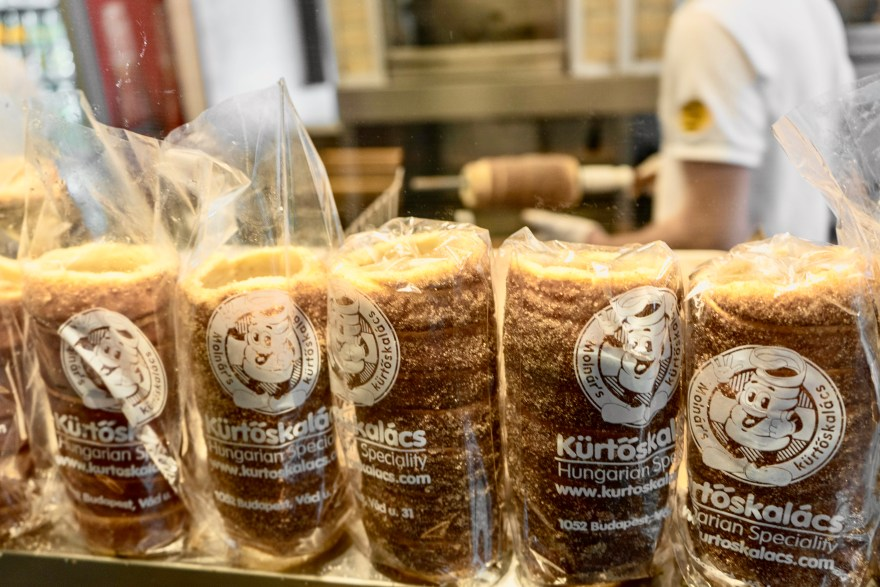 clear pack of Kürtöskalács chimney cake with Molnár's Kürtőskalács label