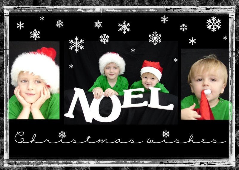 {christmas card 2006} digital scrapbooking