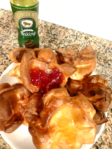 Easy Yorkshire puddings recipe for dessert just add jam!