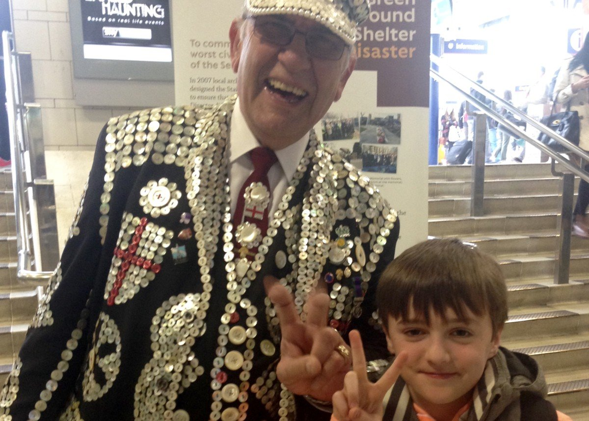 Pearly Kings and Queens Harvest Festival at the Guildhall.
