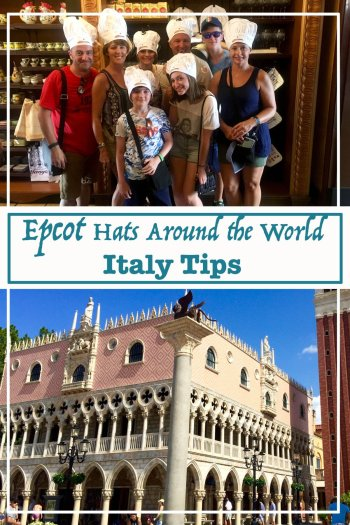 Epcot Hats Around the World, Italy Tips.