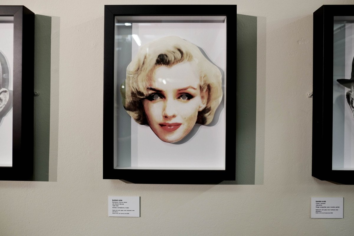 Marylin Monroe Exhibit A Heroes and Villains, an Exhibition by Hugh Tisdale and Dan Murrell Marylin Monroe
