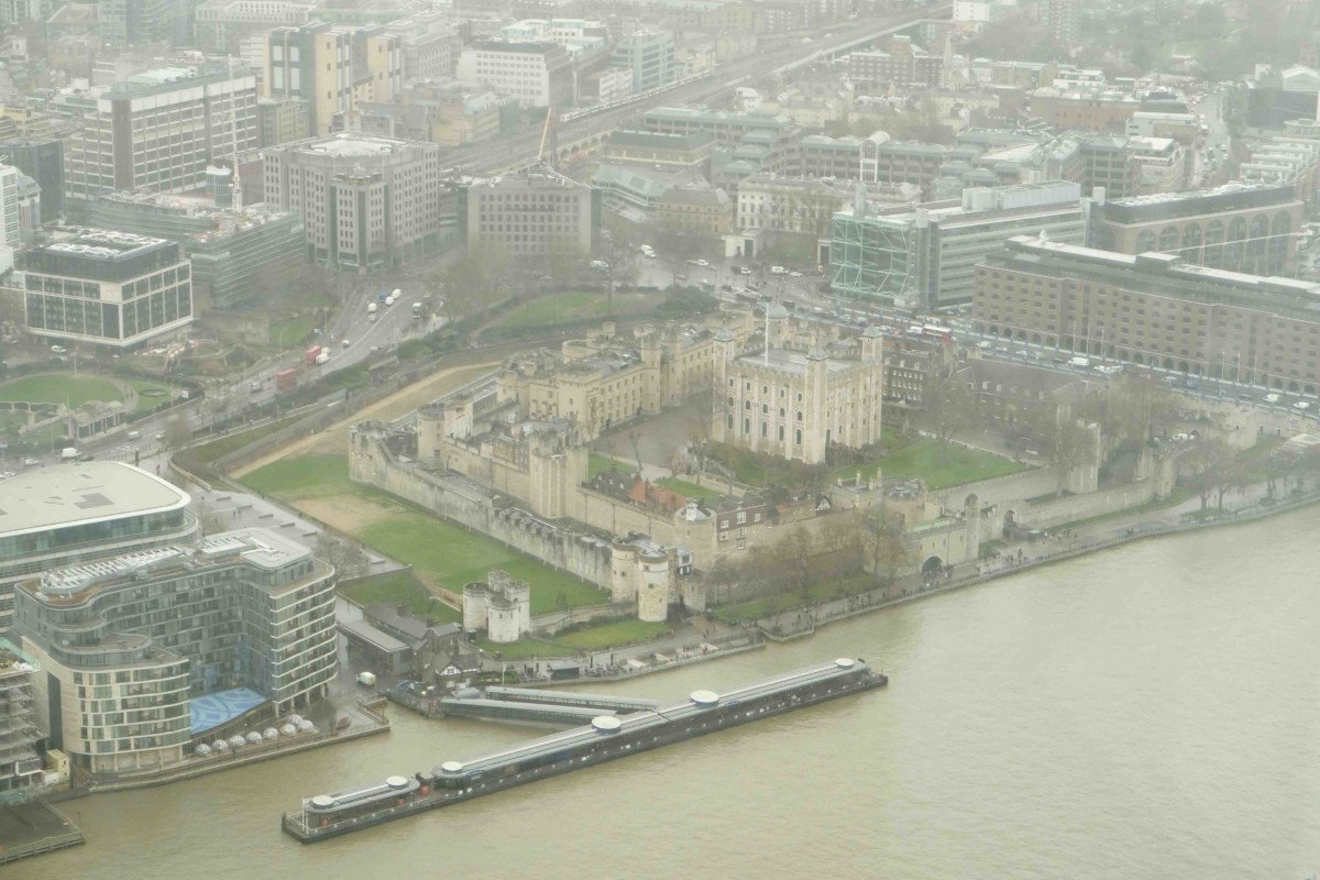 The view from The shard tower of london