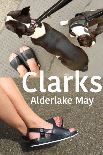 Clarks Alderlake May sandals in black