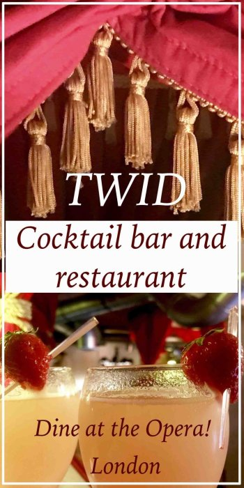 Twid Cocktail bar and restaurant Battersea.