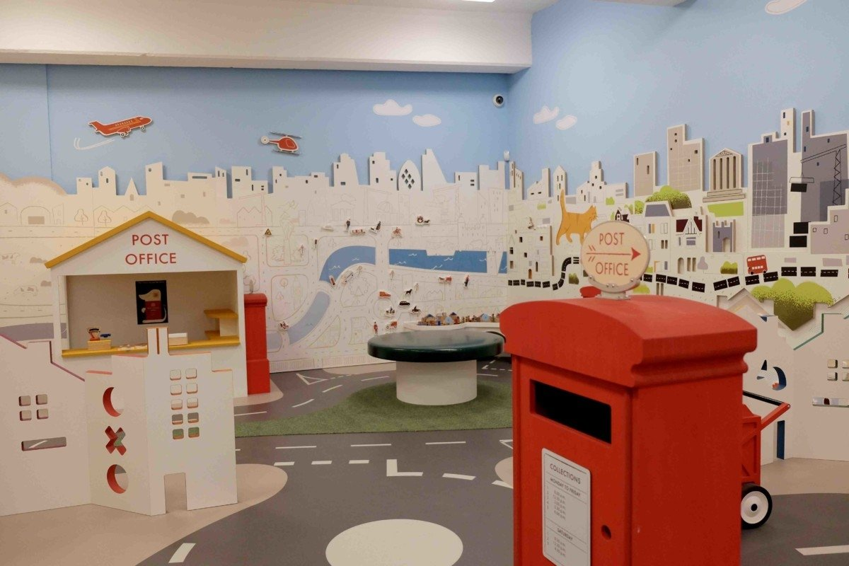 The Mail Rail underground exhibition at the museum sorted the play area