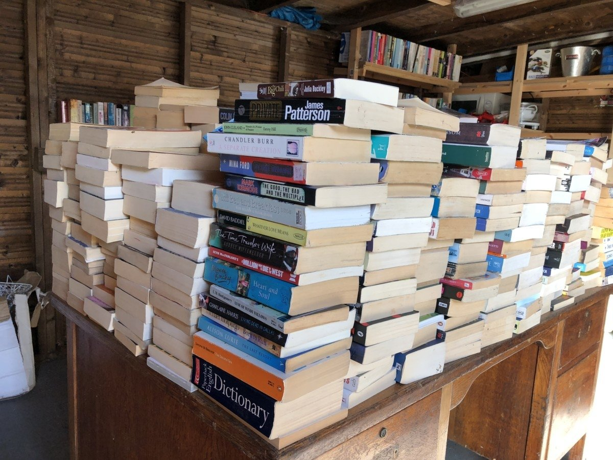 A four day trip on the Norfolk Broads Chandlers Yard Book shop Ludham