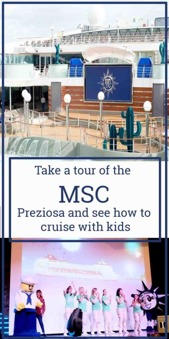 Take a tour of the MSC Preziosa and see how you can cruise with kids
