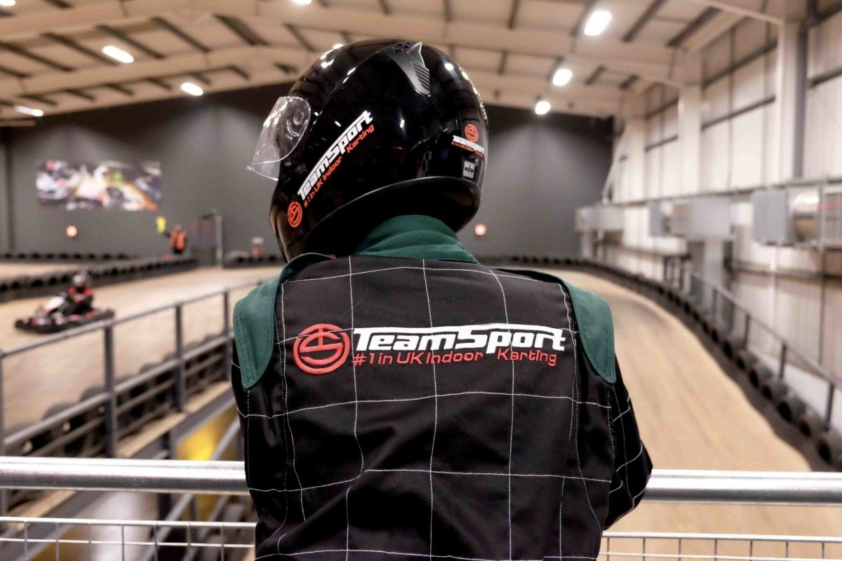 Teamsport Karting in Basildon rear rack and helmet view