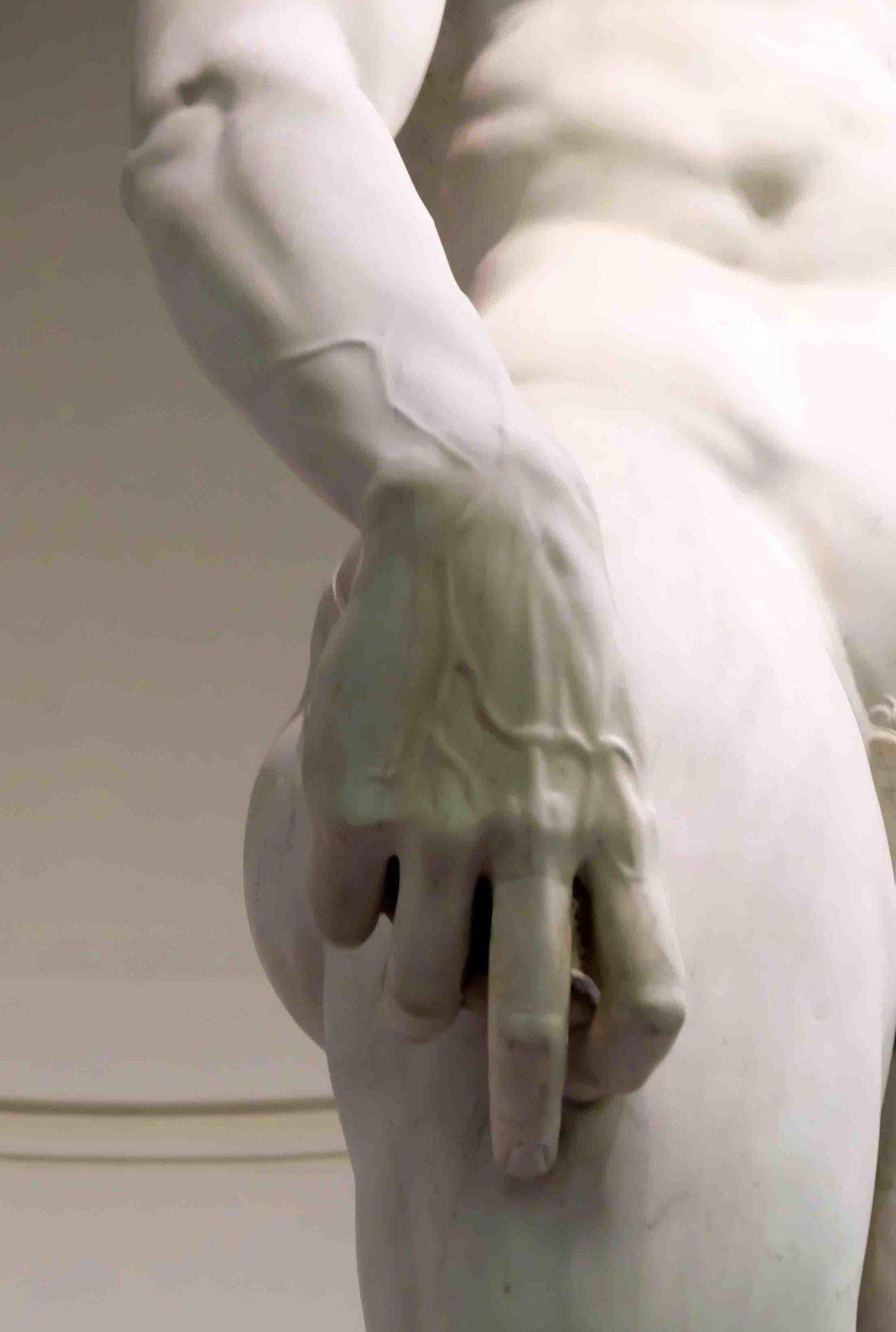 The hand of Michelangelo's David