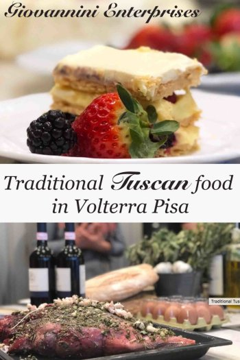 Traditional Tuscan food in Volterra Pisa pinnacle image