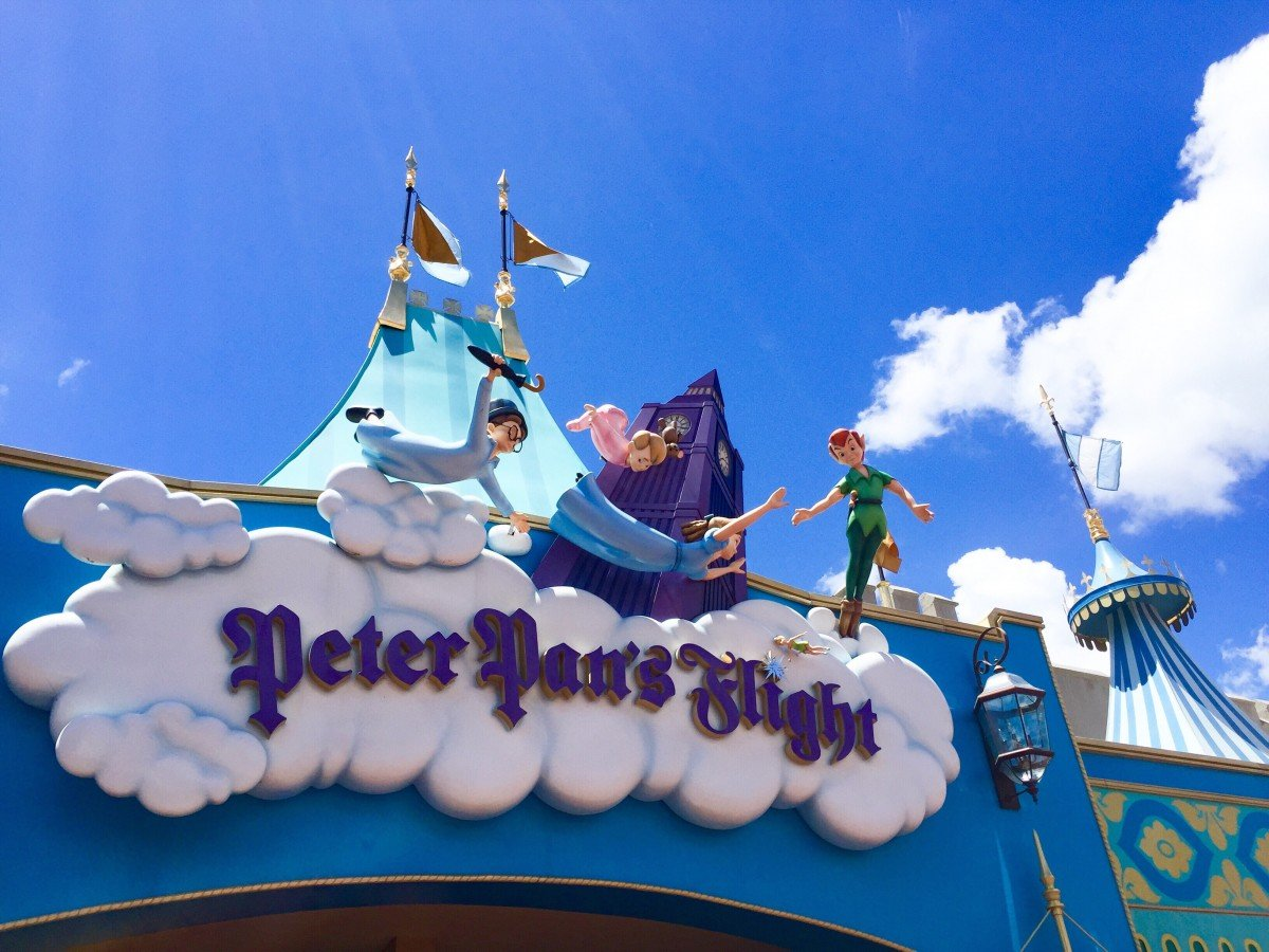 Peter Pan flight ride at Disney world Florida