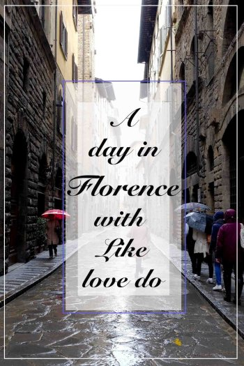 A day in Florence, visiting the city on foot