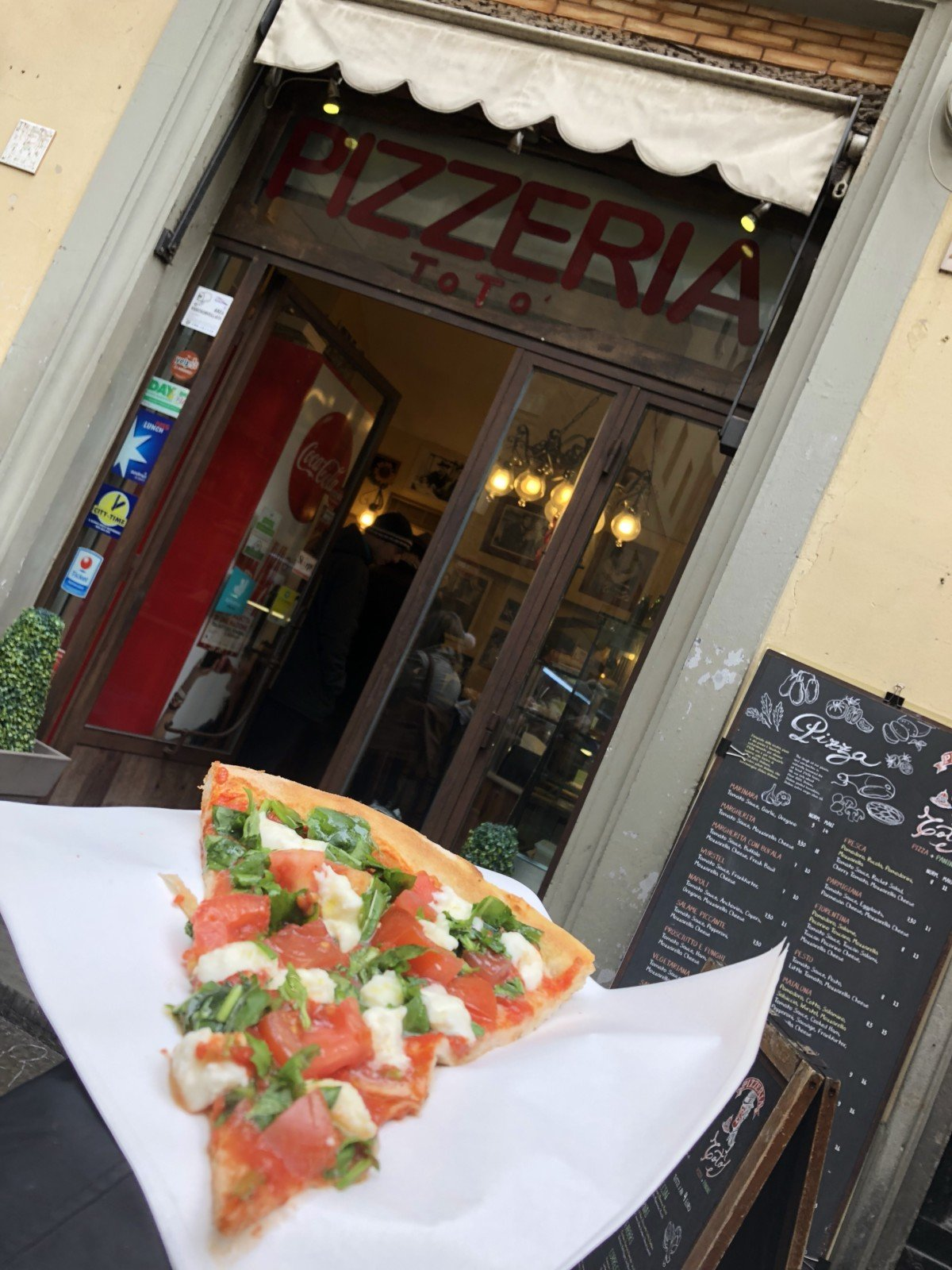 Pizzeria in the Ruote area of Florence.
