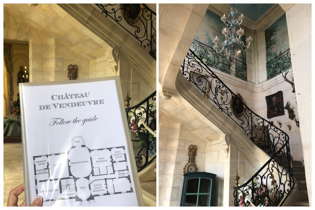 Chateau de Vendeuvre main hall and staircase tour