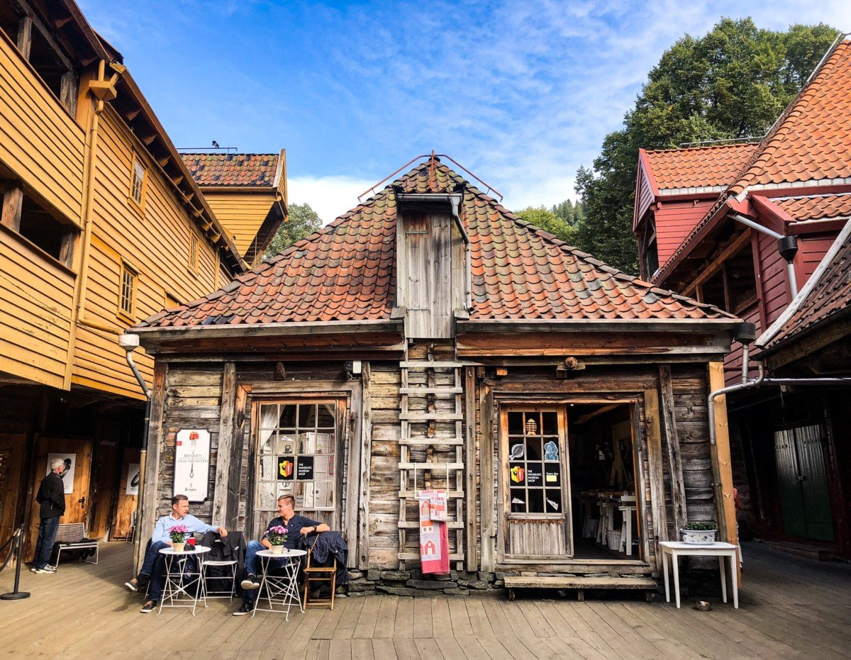 A building in Bryggen which is a World UNESCO heritage site