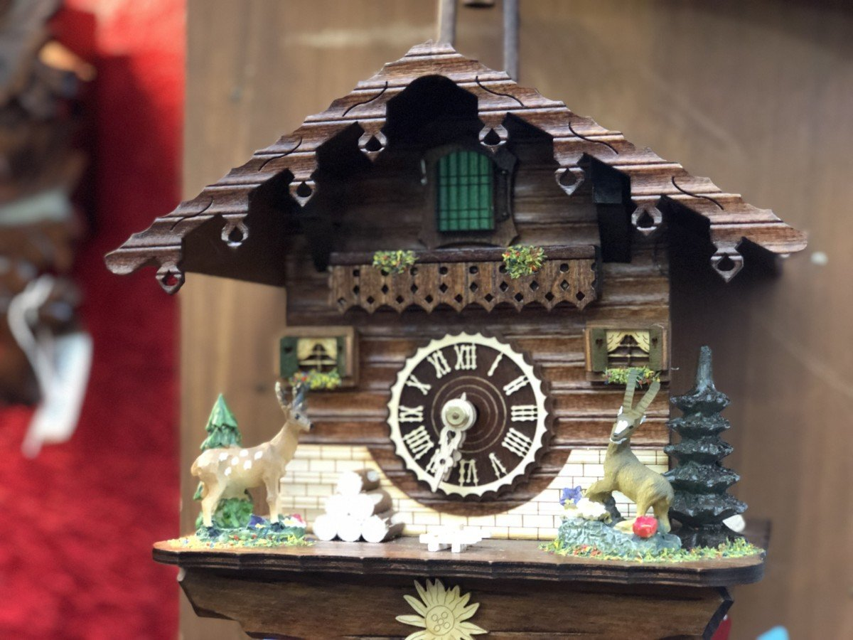 German Cuckoo Clock at the German Christmas Market Wickord