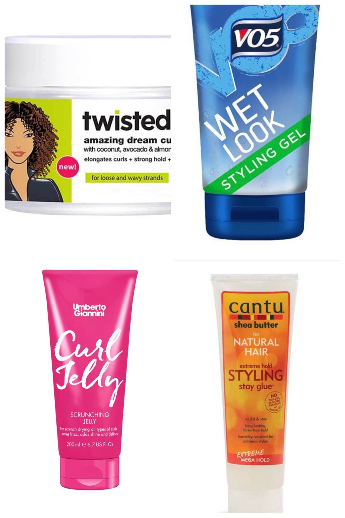 Curly girl method gels from UK supermarkets and drugstores