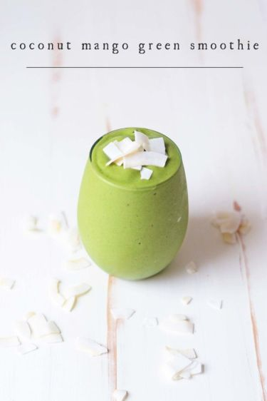 Here's a sweet twist on a green smoothie for someone with an active lifestyle. The veggies and fruits are loaded with muscle recovery nutrients, the protein powder builds muscle post workout, and the fat from the coconut milk will give you energy to burn through the morning without needing coffee. Ingredients: Banana, spinach, mango, coconut milk, protein powder http://init4thelongrun.com/2015/03/02/coconut-mango-green-smoothie/