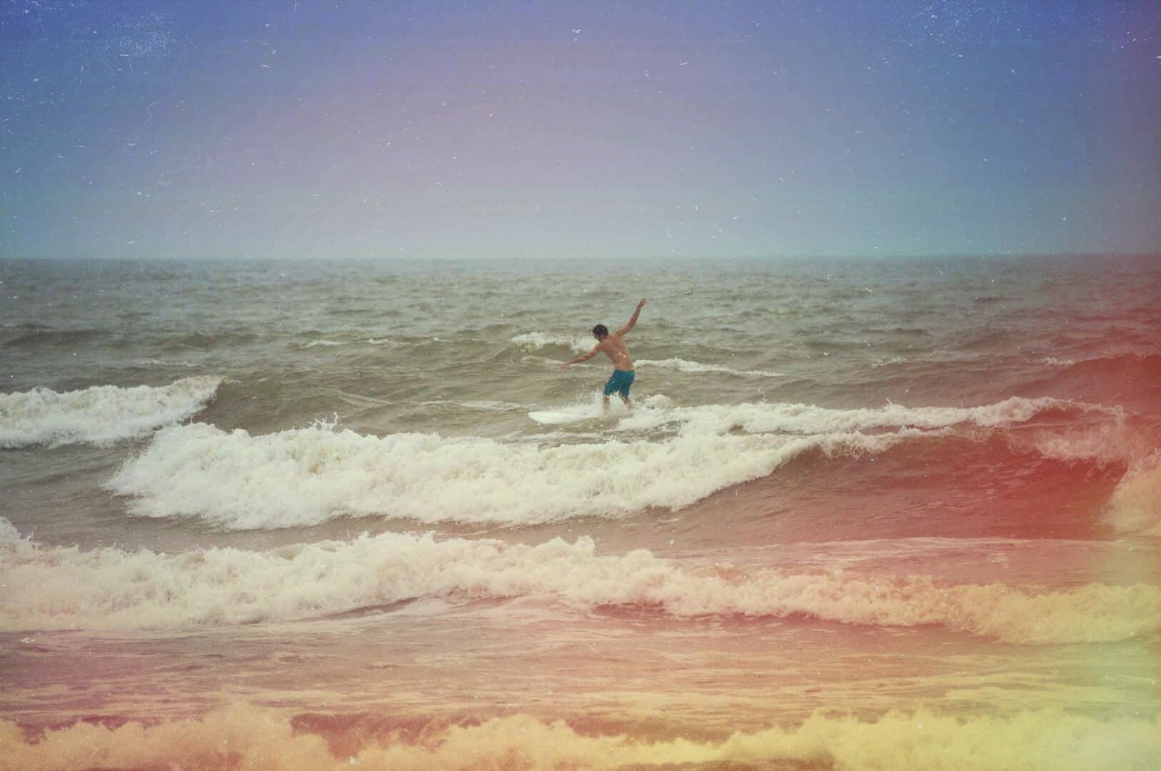 light leak surfing photo