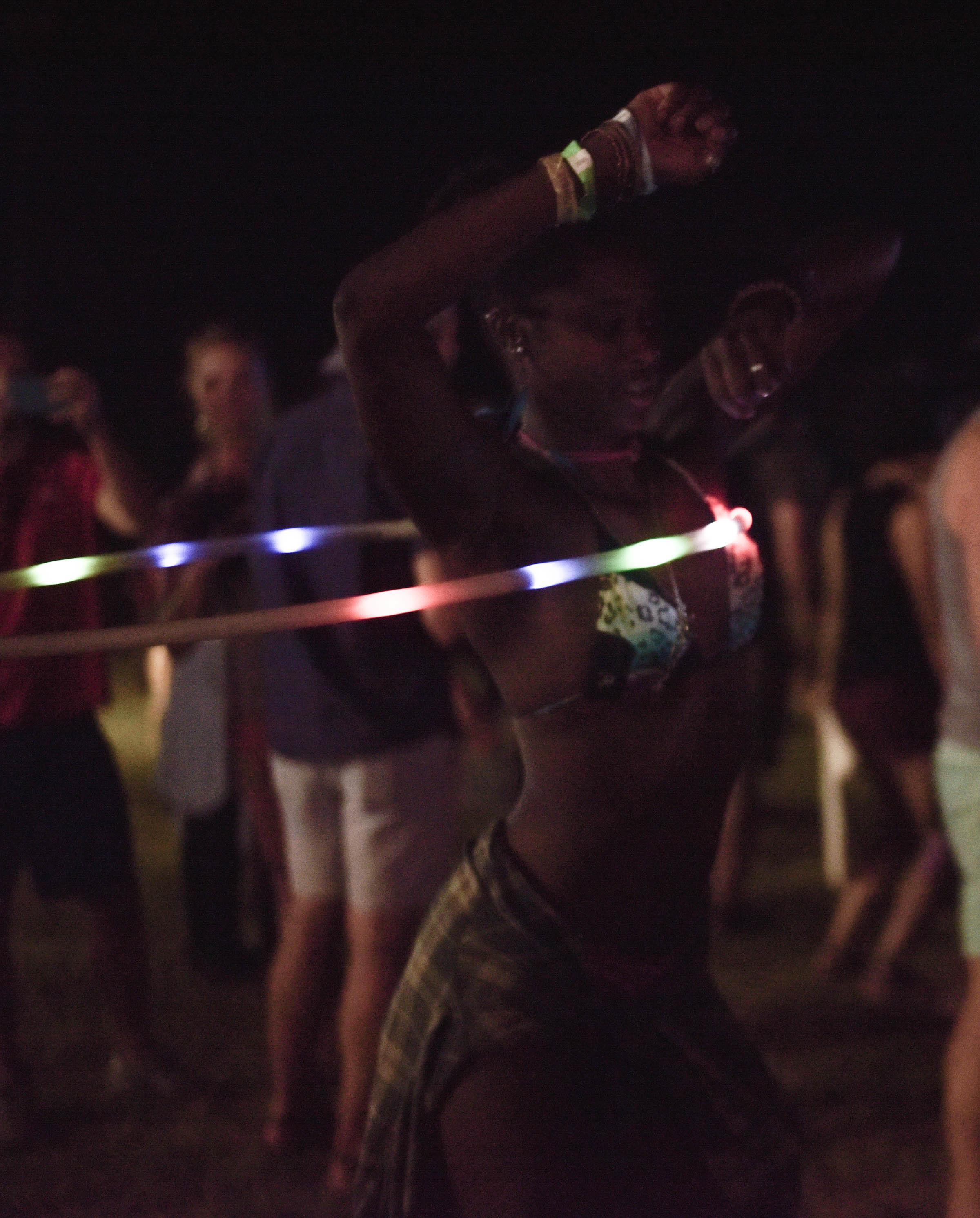 float fest dancing girl