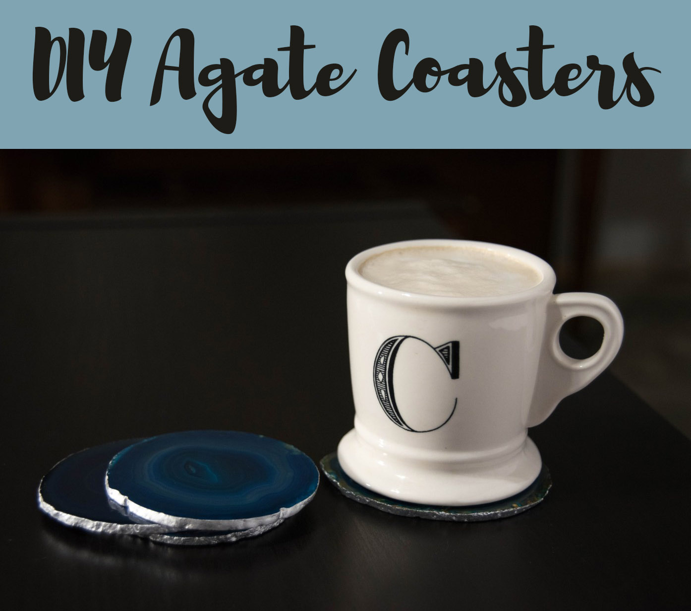 diy agate coasters