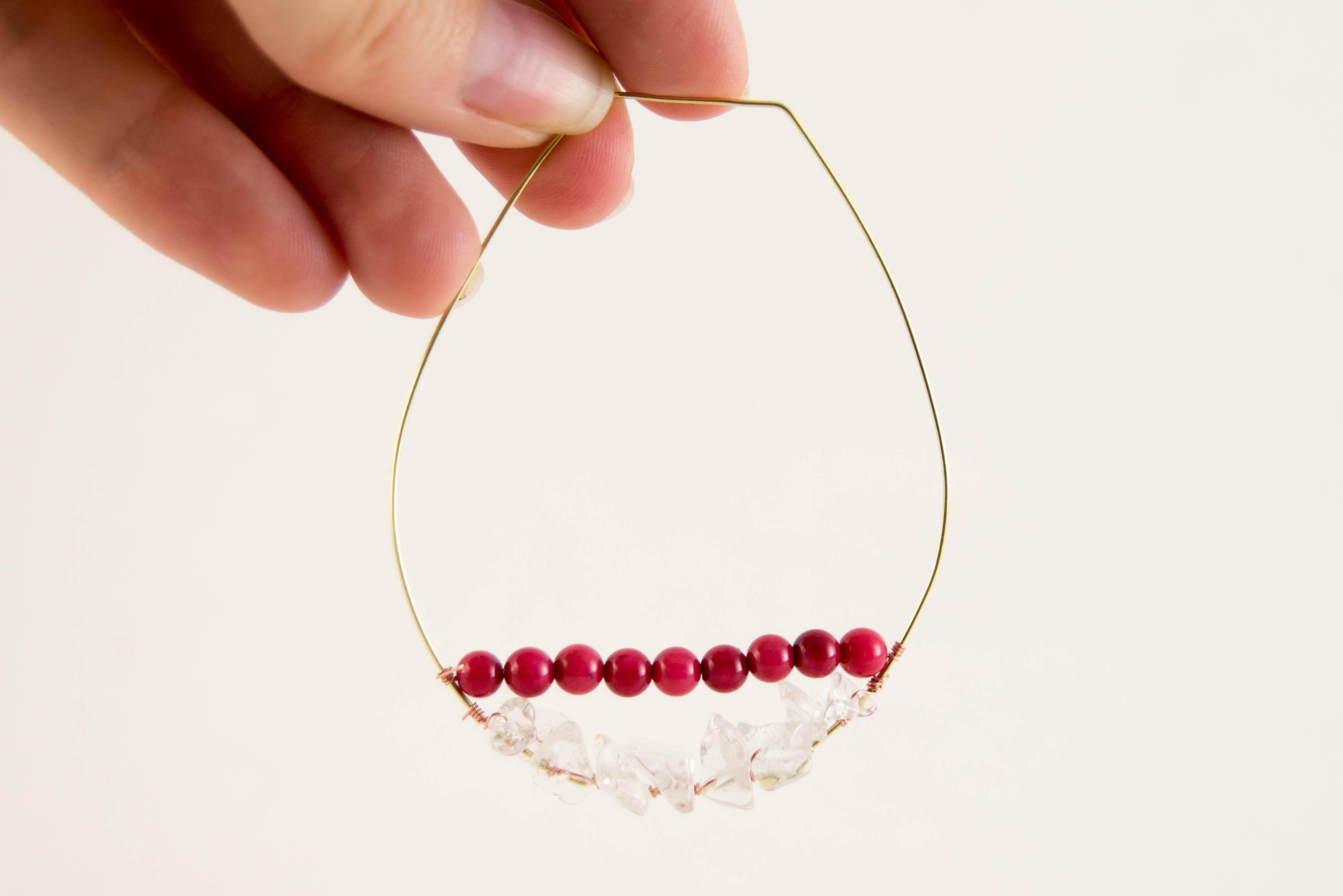DIY Wire Wrapped Beaded Hoop Earrings - Likely By Sea